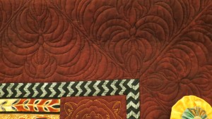 African Twist, designed, made and quilted by Sally Mowers