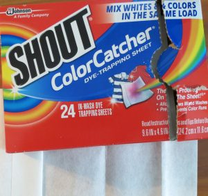 Color Catcher sheets to catch fugitive dyes.