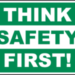 think safety first poster