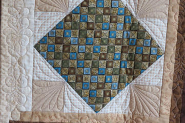 quilt block quilted using quiltmagine computer guided from Nolting longarm