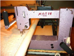 M.A.Q. 14 mid-arm quilting machine from Nolting