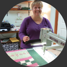 Nolting longarm owner customer of Delightful Quilting & Sewing Avon NY
